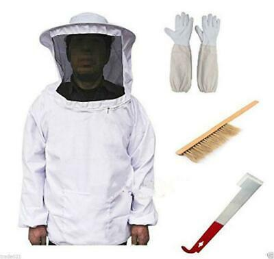 Beekeeping Suit Tool Set Beekeeping Jacket+Brush+Lifter+Gloves Set Supplies CB