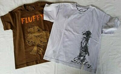The Wizarding World of Harry Potter T-shirts Lot  of 2 Boys Size X-Small & Small