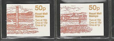 GB Folded booklets 50p 1986/87 Roman Britain x 2, FB 37/38, 38 being Cylinder No