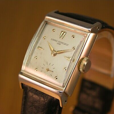 1940s GIRARD PERREGAUX Gents Vintage Swiss Watch / 10K GOLD FLD / JUST SERVICED