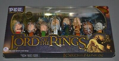 Lord of the Rings CAST Signed (8) PEZ Collection VERY RARE AUTOGRAPHED  1/1