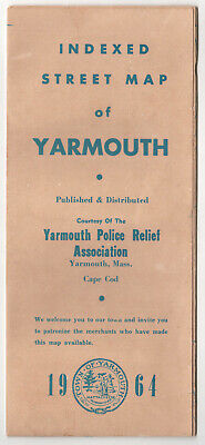 1964 YARMOUTH MASSACHUSETTS Vintage Map CAPE COD South WEST Yarmouth Port MASS