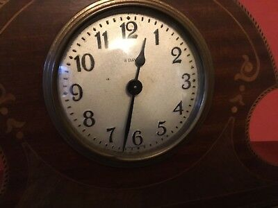 Art Nouveau Mahogany Mantel Clock 8 Day.