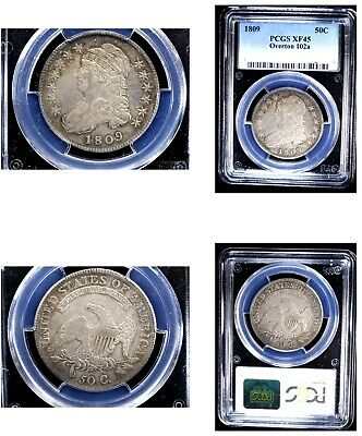 1809 50C Overton 102a XF45 PCGS-CAPPED BUST HALVE---