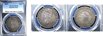 1809 50C Overton 115a XF45 PCGS-CAPPED BUST HALVE---