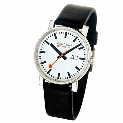 Mondaine A627.30303.11SBB Big Date Stainless Steel Leather Quartz Men's Watch