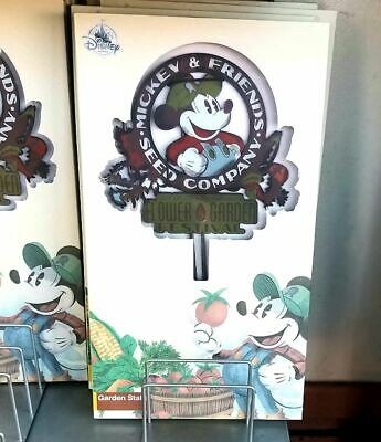 Disney Epcot Flower & Garden 2019 Mickey Friends Seed Co. Garden Stake New
