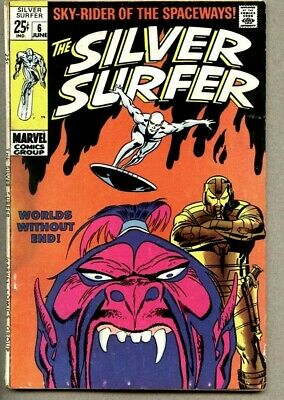Silver Surfer #6-1969 vg/vg+ Giant Size John Buscema 1st The Overlord