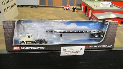 Dcp 33839 Ford L9000 Semi Day Cab Truck Flat Bed High Boy Trailer 1