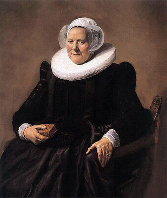 Huge Oil painting Frans Hals - Portrait of a Seated Woman & scarf handpainted