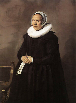 Huge Oil painting Frans Hals - Portrait of a Noblewoman with white scarf canvas