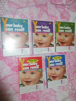 Your Baby can Read 5 disc DVD set Dr. Titzer's Early Learning DVD's