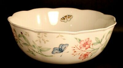 """Lenox Butterfly Meadow 9 7/8"""" Vegetable / Salad / Serving Bowl EXCELLENT COND."""