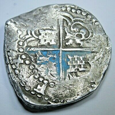 1600's-1700's Silver Spanish 8 Reales Eight Real Old Dollar Treasure Cob Coin