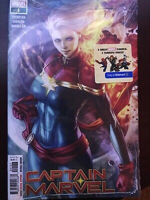 Captain Marvel 1 Artgerm Walmart Exclusive Long Hair Variant 3 pack New Sealed