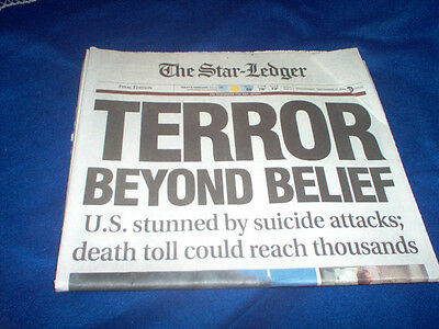 Image result for newark star ledger 9/12/01