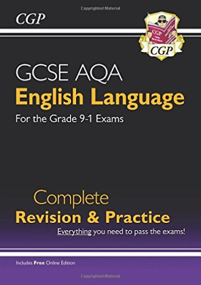 CGP Books-New Gcse English Language Aqa Complete Revision & Practice -  BOOK NEW
