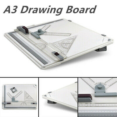 A3 Drawing Board Portable Drafting Kit Head Tilters Square Table Adjustable GH
