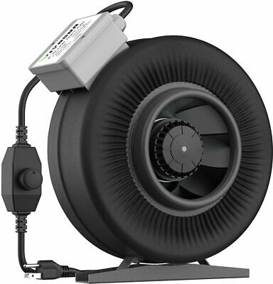 VIVOSUN 6 Inch 440 CFM Inline Duct Ventilation Fan With Variable Speed