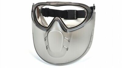 Face Shield Safety Goggle Clear Anti Fog Dual Lens with Clear Shield