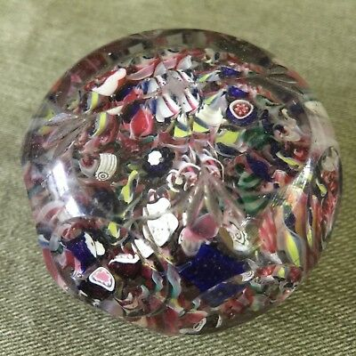 Very GOOD Antique NEW ENGLAND GLASS Faceted Scramble PAPERWEIGHT Excellent Cond.