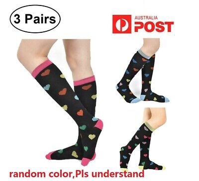 3Pairs Unisex Compression Socks 21-59CM Medical Nursing Travel Flight Crossfit