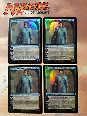 Magic the Gathering 4 x Jace architect of thought Duel Deck Foil playset
