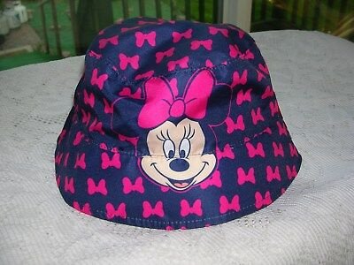 1604e4cb 2018 -Disney's Minnie Mouse Girl's Reversible Bucket Hat FITS 2T- 4T NWT ...