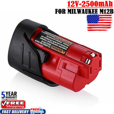 NEW FOR Milwaukee Red 48-11-2440 M12 C12B Lithium-ion 2.5AH Compact Battery Pack