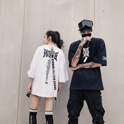 Couple Men Women Summer Short Sleeve T-shirt Casual Hip-Hop Oversozed Loose Tops