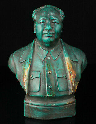 China Hand-carved Synthetic Stone Chairman Mao Head Statue Desktop Ornaments