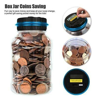 Large Digital LCD Pound Coin Counter Saving Jar Money Box Piggy Bank Coins Gift