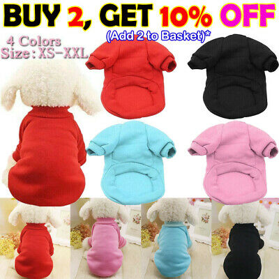 Pet Clothes Puppy Dog Jumper Warm Sweater For Small Dogs Coat Various Styles UK