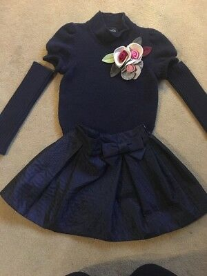 """""""Simonetta"""" Girls Outfit Age 5 From Harrods Cost £300 Navy Blue"""