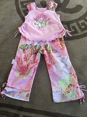Toff Togs Little Girls Pink Outfit Size 98 Age 3/4 So Cute