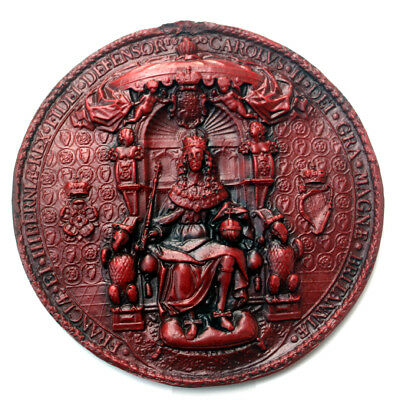 The Seal of Charles II : Resin Replica. Historical Reproduction.
