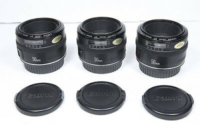 CANON EF 50mm F/1.8 Mark I Metal mount Lens for EOS Near Mint condition SHARP!