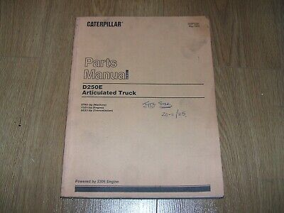'95 'Cat' Genuine Caterpillar D250E Articulated Dumper Truck Parts Manual/Book