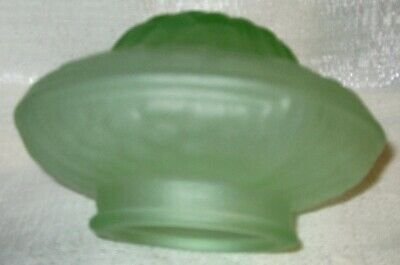 "Frankart 5-1/2"" replacement lamp globe 3-1/4"" fitter art deco green glass shade"