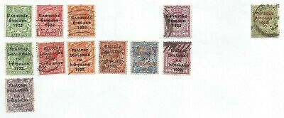 Ireland 1922 Overprints Stamps Selection On Album Page