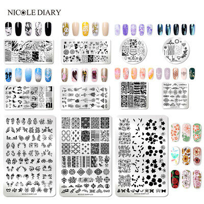 91Patterns  NICOLE DIARY Nail Stamping Plates Stainless Steel Nail Art