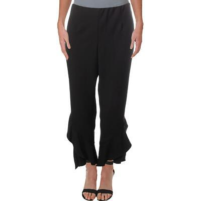 Lysse Womens Black Raw Hem High Rise Stretch Cropped Pants Trousers S BHFO 3311