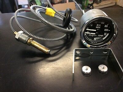 MG MGB Smiths Dual Gauge COLD NORMAL HOT Water / Oil Pressure  Gauge BHA4900