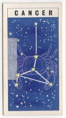 Cancer Constellation  Zodiac Crab Sign Astrology Vintage Trade Ad Card