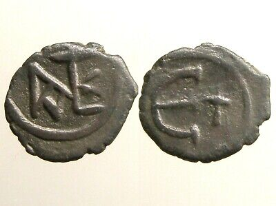 JUSTIN II BRONZE PENTANUMMIUM____Byzantine Empire____BATTLED PERSIANS & LOMBARDS