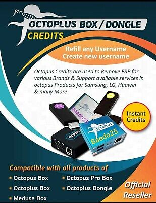 Octopus, Octoplus Server Credit  (750 Pack)  { Fast Delivery }