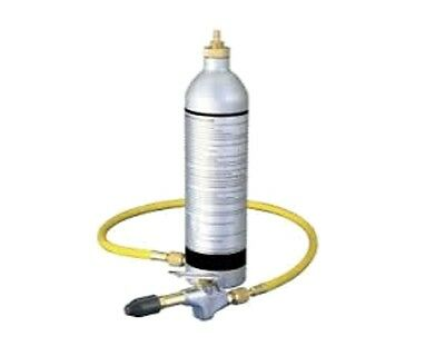 Air Conditioning Flush Kit A/C System Aluminum Canister 1/4 NPT Manual Shut Off