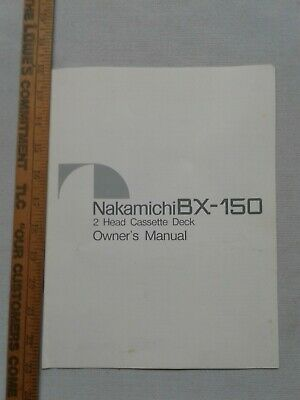 Owner's Manual-Operating Instructions for Nakamichi BX-150