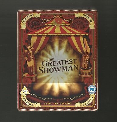 The Greatest Showman - Uk Exclusive Blu Ray + Dvd Steelbook - New & Sealed
