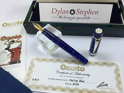 Onoto Magna classic marine blue limited edition 2/ 20 fountain pen NEW